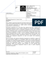 Malvius - 2007 - Information Management for Complex Product Development