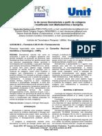 Desenvolvimento de Novos Biomateriais a Partir de Colágeno Quimicamente Modificado Com Maltodextrina e Genipina