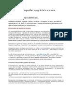 8. Prevesion y Seguridad en El Trabajo. Gestion de La Seguridad Integral de La Empresa