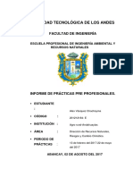 informe de practicas pre profesionales ingeniería ambiental