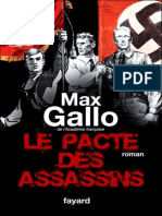Le Pacte Des Assassins - Max Gallo