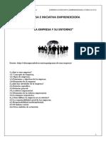 Tema 1 EIE La Empresa y Su Entorno