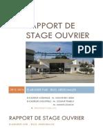 314691476 Rapport de Stage Ouvrier