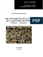 Julio Rodríguez González - Diccionario de batallas de la Historia de Roma (753 a.C. – 476 d.C.)