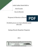 20 El Debido Proceso en El Procedimiento Penal Abreviado - Santiago Ricardo Riquelme Chuquizan -
