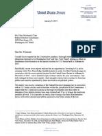 Sen. Doug Jones Letter to FEC