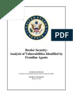Senate Border Security Analysis of Vulnerabilities