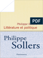 Litterature Et Politique - Philippe Sollers