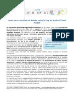 UNICEF Argentina Posicionamiento Justicia Penal Juvenil