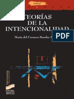 Teorías de La Intencionalidad (Hermeneia) - María Del Carmen Paredes Martín