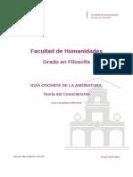 Guia Docente 269102202 - Teoria Del Conocimiento - Curso 1516