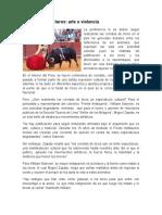 ARTICULO Las corridas de toro arte o violencia.doc