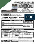 Form 1 Form 2 Form 3 2019 Timetable