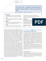 Early Intervention Services Cognitivebehavioural Therapy and Family Intervention in Early Psychosis Systematic Review