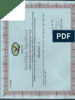 Sertifikat Akreditasi Departemen Pendidikan Geografi