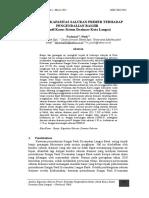 Analisa Kapasitas Saluran Primer Terhadap Pengendalian Banjir