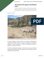 Variante para plantade aguas residuales de Huangarcucho   Diario El Mercurio