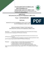 7.6.3.1 Sk Kepala Pkm Penggunaan Dan Pemberian Obat Atau Cairan IV