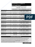 2018 interleague regular season majors division softball schedule  updated 040918