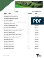 Bridge Technical Notes Index Oct 2018