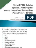 Materi 3.3 Tugas PPTK, Pejabat Pengadaan, PPHP - Prof Sogar