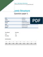 3.1-Atomic Structure 1c - Edexcel Igcse 9-1 Chemistry Qp-updated