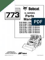 Bobcat 773 G Series Skid Steer Loader Parts Catalogue Manual (SN 5180 11001 & Above ).pdf