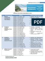Jadwal Pelatihan Pariwisata 2019
