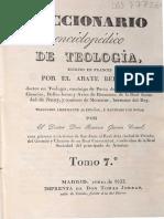 1833.- Bergier, A. - Diccionario Enciclopedico de Teologia