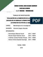 Evaluación de La Composición de La Dieta de La Lechuza de Los Arenales
