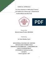 Critical Appraisal 2- Roderick Samuel Prentice - 406181068