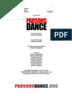 Parsons Dance 2019
