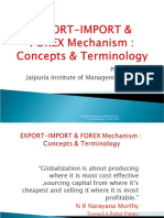 Concepts of Export- Import & Forex Mechanism