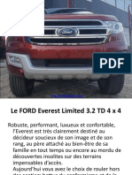 Le FORD Everest Limited 3.2 TD 4 x 4 Togo