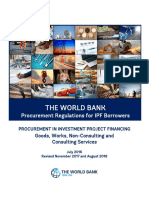 World Bank Procurement Regulations
