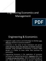 Engineering Economics and Management