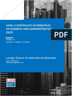 Level 2 Certificate in Principles of Business and Administration
