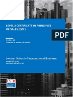 Level 2 Certificate in Principles of Sales