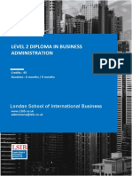 Level 2 Diploma in Business Administration