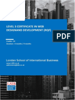 Level 3 Certificate in Web Design and Development