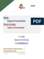 Module Physique de Linstrumentation Elem