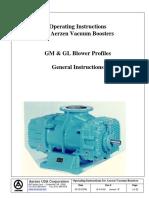 Aerzen GM & GL Blower Manuals