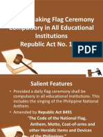 An Act Making Flag Ceremony Compulsory in All