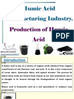 Humic Acid Manufacturing Industry