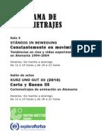 Programa de Cortometrajes DA2 Octubre-Noviembre 2010