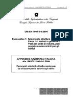 Italian National Annex EC1
