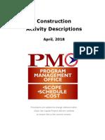 Construction Phase Activity Descriptions