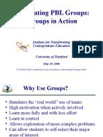 Facilitating PBL Groups