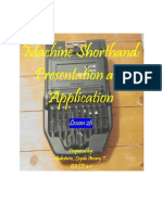 Machine Shorthand-Module 26
