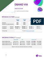 Prislista Bredband Fiber 160401